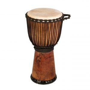 This is product image of Drums for School's Standard Natural Djembe Wide Top 10 inch diameter, 50cm high
