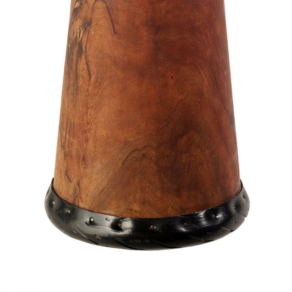 This is product image of Drums for Schools' Djembe Natural Wide Top 8 inch diameter, 30cm high. Image showing of the drum base