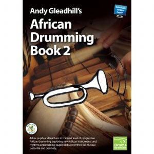 Andy Gleadhills African Drumming Book 2 audio cover