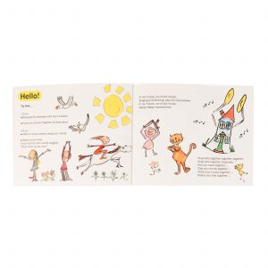 This is a product image of page 4 and page 5 of the 'A Little Birdsong' book 2.
