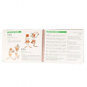 This is a product image of page 18 and page 19 of the 'A Little Birdsong' book.