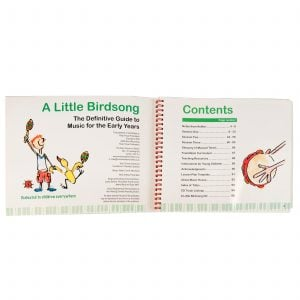 This is a product image of page 2 and page 3 of the 'A Little Birdsong' book.