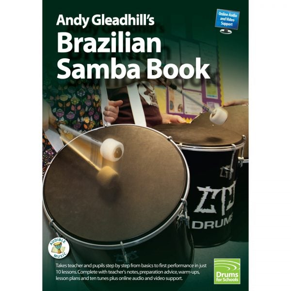 This is a product image of the front cover of Andy Gleadhill's Brazilian Samba Book.