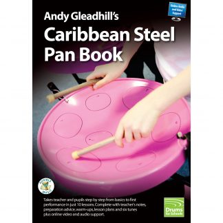 This is a product image of the front cover of Andy Gleadhill's Caribbean Steel Pan Book.