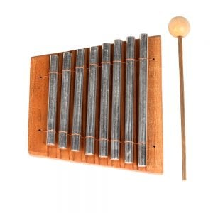 Chime Bar - 8 notes, stainless top down.