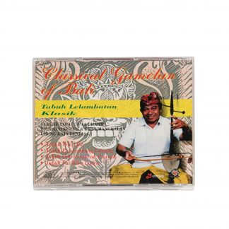 This is a product image of the case for the Classical Gamelan of Bali (Tabuh Lelambatan Klasik) CD.