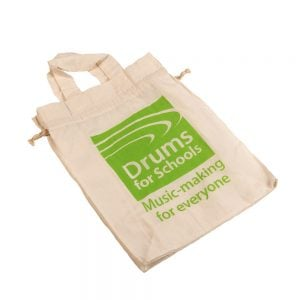 This is a product image of Drums for Schools Medium cotton bag