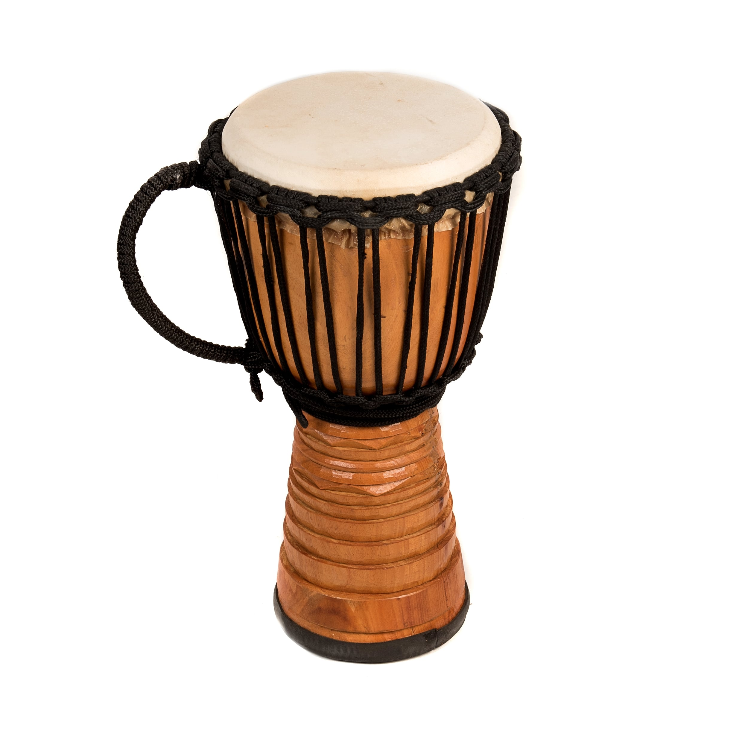 This is a product image of the Djembe Drum - Premium - 10in diameter, 50cm high, deep carved from the side.