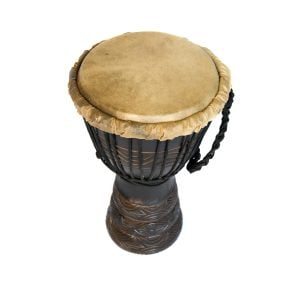 Djembe Drum - Standard - 7in diameter, 30cm high, deep carved from the side.