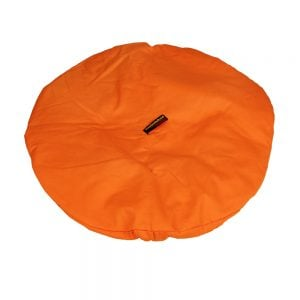Drum Hat - 18in diameter, orange canvas, waterproof which is suitable to protech the head of any 18in Djembe, from reverse side.