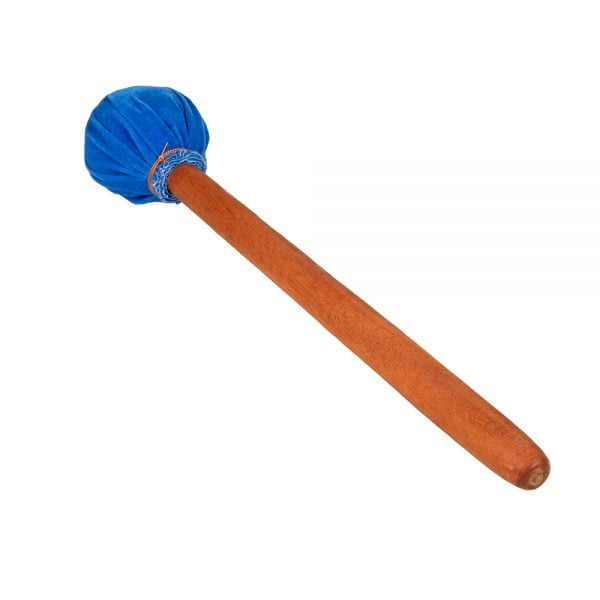 This is a product image of a Dundun Beater - Early Years. The beater head in the image is blue with a wooden handle.