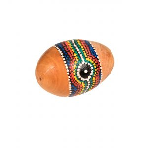 Egg Shaker - Large - 9cm, painted.