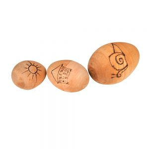 This is a product image of group of Egg Shaker Small, Medium, and Large - 5cm, 7cm, and 9cm, Early Years.