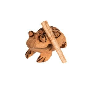 Frog Scraper - Large - Early Years, with the stick propped.
