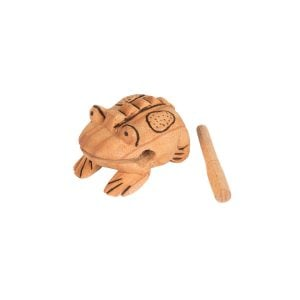 Frog Scraper - Medium - Early Years, with stick.