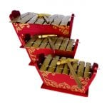 Gamelan - Standard - 7 key - 3 Pack, top down left shot.