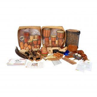 This is a product image of the Lots of Littles Kit - 60 Instruments. The huge range of products are presented in and around their Storage Basket.