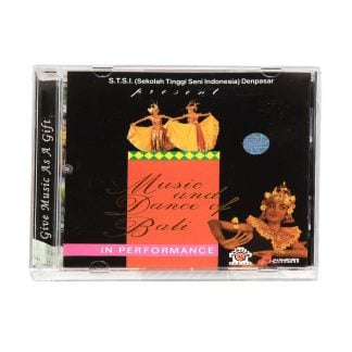 This is a product image of the cover of the Music and Dance of Bali in Performance CD.