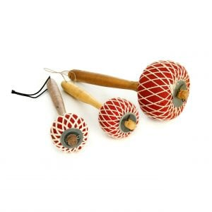 This is a product image of a set of Gong Beaters Pangul - Small, Medium and Large, reversed shot.