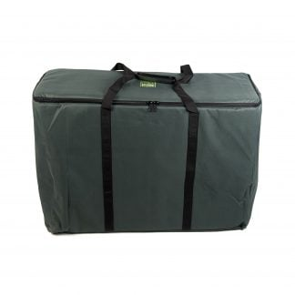 Storage Carry Bag for 3 x 60cm Djembe Drums. The bag is upright and closed with straps up.