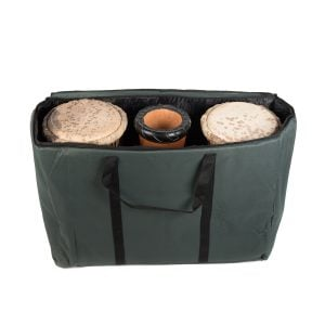 Storage Carry Bag for 3 x 60cm Djembe Drums, reversed centre shot.