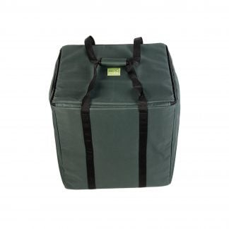 Storage Carry Bag for 5 x 50cm Djembe Drums. The bag is closed with straps up.