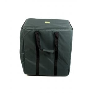 Storage Carry Bag for 5 x 50cm Djembe Drums. Head on shot with straps down.