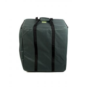 Storage Carry Bag for 5 x 50cm Djembe Drums. Head on shot with straps up.