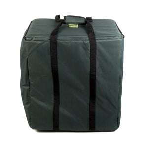 Storage Carry Bag for 5 x 50cm Djembe Drums, with the straps up.