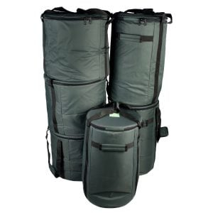 Storage Carry Bags for 15 x Brazilian Samba Primary Big Drums, pack shot.