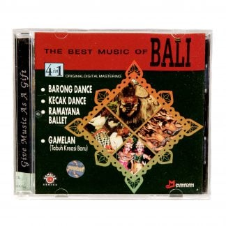This is a product image of the cover of The Best Music of Bali CD.