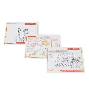 This is a product image of annA rydeRs Music Cards set of 10, all cards laid out.