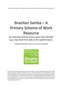 Title Graphic of Andy Gleadhill's Brazilian Samba Primary Scheme of Work