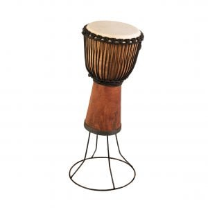 This is product image of Drums for Schools' Drum Stand for Djembe Natural Wide Top 10 inch diameter, 50cm high