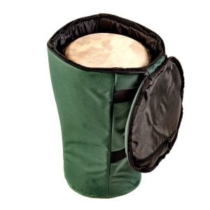 This is a product image of Storage carry bag for 40cm djembe drum, opened.