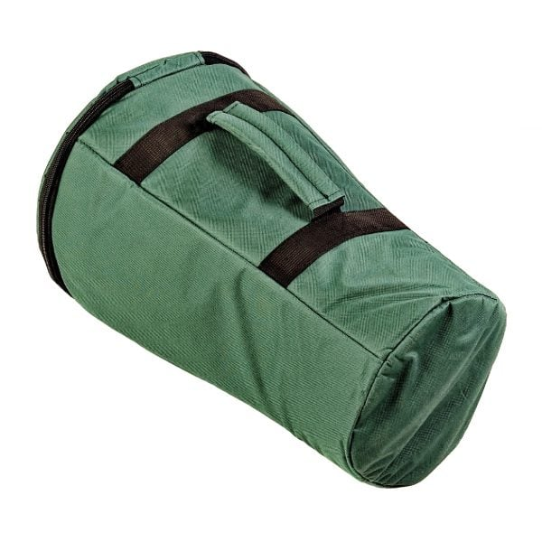 This is a product image of Storage carry bag for 40cm djembe drum, side angle shot.