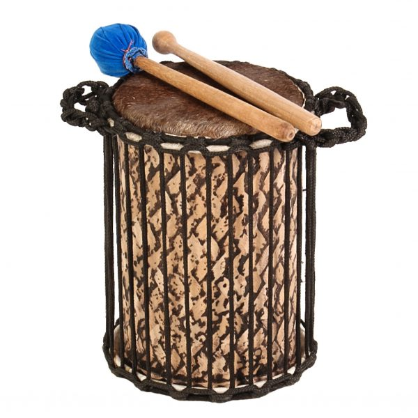 This is a product image of Drums for Schools' Teenyweeny Kenkeni Bamboo Drum, 8in diameter, 30cm high