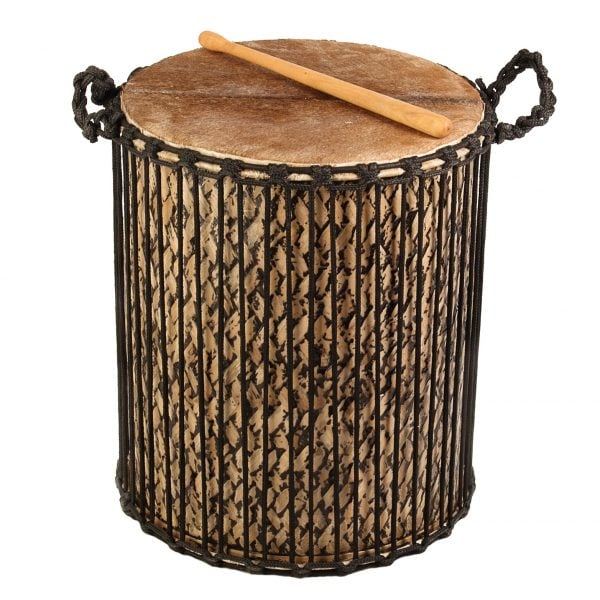 This is a product image of Drums for Schools' Sangban Bamboo Drum, 16in diameter, 50cm high