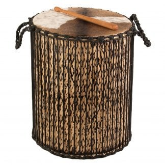 This is a product image of Drums for Schools' Dundun Bamboo Drum, 18in diameter, 60cm high