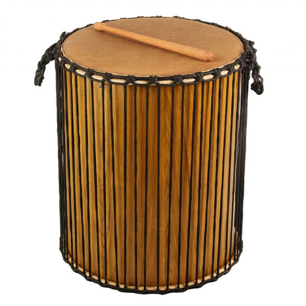 This is a product image of Drums for Schools' Dundun Recycled wood, 18in diameter, 60cm high