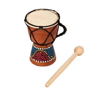 This is a product image of Drums for Schools' Djembe budget 2 inch diameter, 12cm high, painted.