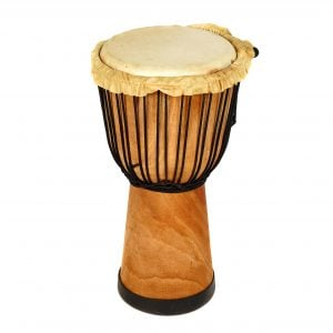 This is a product image of Drums for Schools' djembe drum standard 9in diameter 50cm high natural