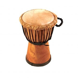This is a product image of Drums for Schools' djembe drum standard 7in diameter 30cm high natural