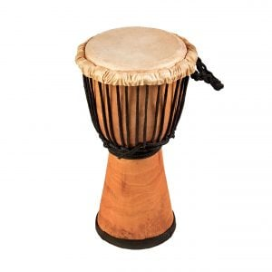 This is a product image of Drums for Schools' djembe drum standard 8in diameter 40cm high natural