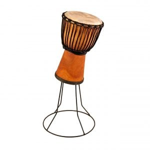 This is a product image of drum stand for 50cm high wooden djembe or wide top 40cm high wooden djembe