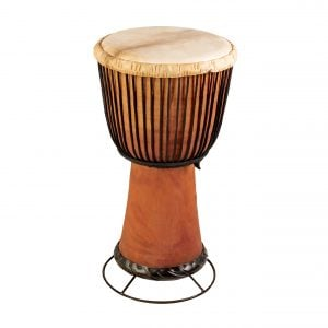 This is a product image of drum stand for 65cm high standard wooden djembe