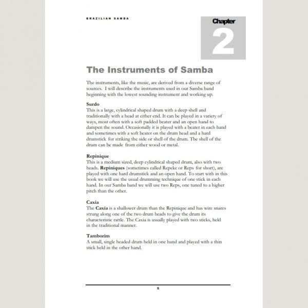 Image showing The Instruments of Samba from Andy Gleadhill's Brazilian Samba Teaching Guide