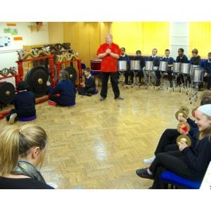 Image showing Andy Gleadhill leading a Composing with World Music Workshop