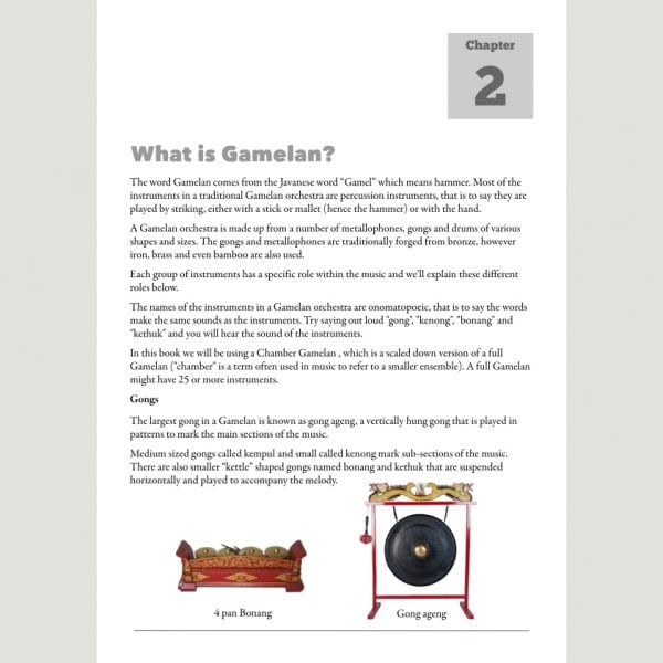 Image showing What is Gamelan from Andy Gleadhill's Indonesian Gamelan Book