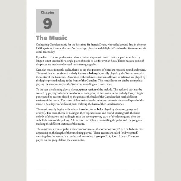 Image showing The Music from Andy Gleadhill's Indonesian Gamelan Book